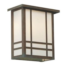 Chicago Lantern™ 12 in. Wide Flush Exterior Wall Light with Roof