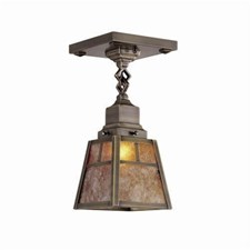 Nashota™ One Light Chain Link Ceiling Fixture with 2-1/4 in. shade holder