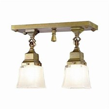 Nashota™ Two Light Chain Link Ceiling Fixture with 2-1/4 in. shade holders