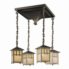 Craftsman Lantern™ Four Light Chain Hung Chandelier