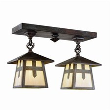 Stamford™ Two Light Chain Link Rustic Ceiling Fixture