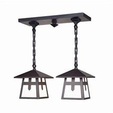Stamford™ Two Light Chain Hung Rustic Ceiling Fixture