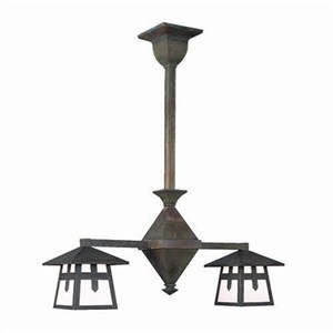 Stamford™ Two Light Rustic Chandelier
