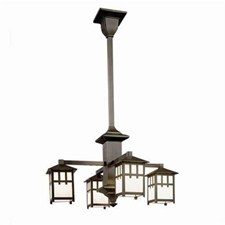 Craftsman Lantern™ Four Light Columnar Chandelier