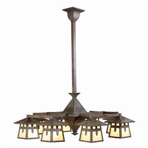 Stamford™ Eight Light Rustic Chandelier