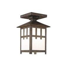 Craftsman Lantern™ 5 in. Wide Semi Flush Exterior Ceiling Light