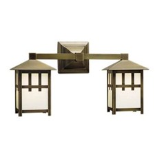 Craftsman Lantern™ Two Light Straight Arm Sconce