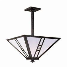 Mission Lantern™ 18 in. Wide Solid Stem Pendant Inverted