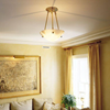 Navarra™ 12 in. Diam Ornate Multi-Stem Alabaster Pendant