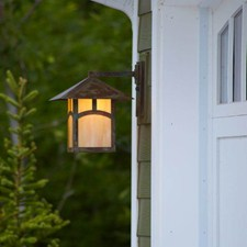 Pine Lake™ Lantern 12 in. Wide Straight Arm Exterior Wall Light