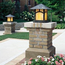 Pine Lake Lantern 16 In Wide Exterior Pier Light
