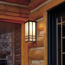 Studio™ Lantern 8 in. Wide Flush Exterior Wall Light with Roof