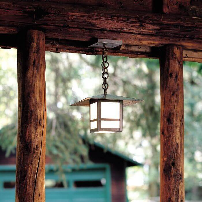 Prairie View™ Lantern 9 in. Wide Chain Hung Exterior Pendant Light
