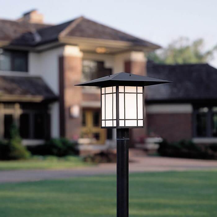 Lantern 18 wide exterior post light brass light gallery milwaukee wide exterior post light aloadofball Images