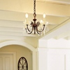 Provence™ Four Light Petite Chandelier with electric candles and crystal