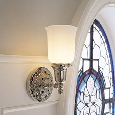 Provence™ One Light Straight Arm Sconce with 2-1/4 in. shade holder