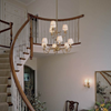 Provence™ Nine Light Two Tier Chandelier with electric candles