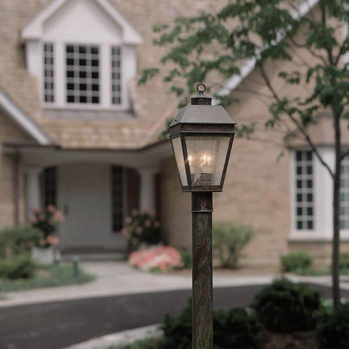 Lantern 9 wide exterior post light brass light gallery milwaukee wide exterior post light aloadofball Images