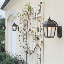 Provincial™ Lantern 6 in. Wide Curved Arm Exterior Wall Light