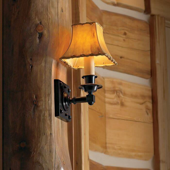 One Light Straight Arm Sconce With Electric Candle Brass