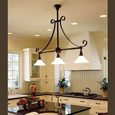 Shoreland™ Three Light Scroll Chandelier with 2-1/4 in. shade holders
