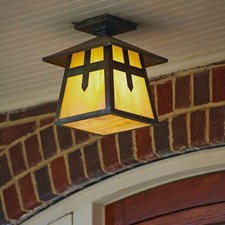 Stamford™ Lantern 9 in. Exterior Rustic Ceiling Light