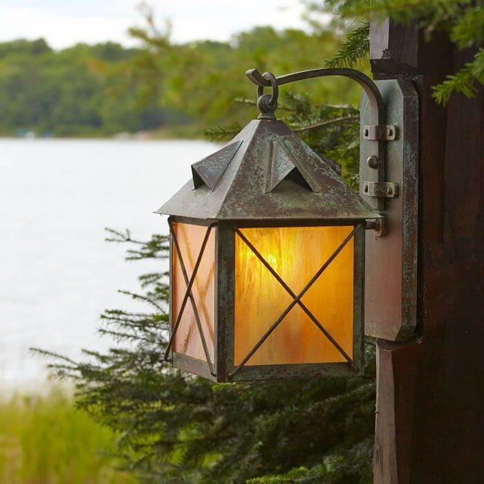 Stonehaven™ Lantern 8 in. Rustic Exterior Wall Light