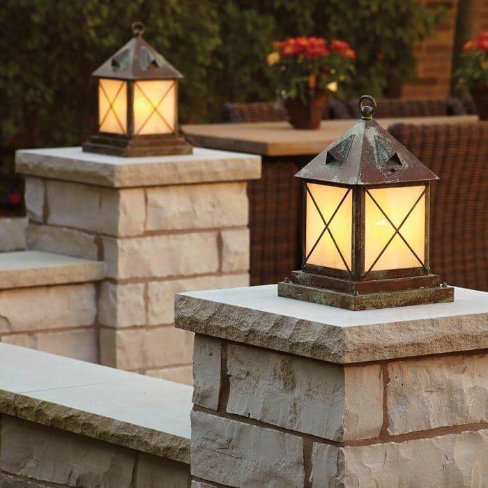 Rustic Pillar Lights Outdoor Column Mount Lighting