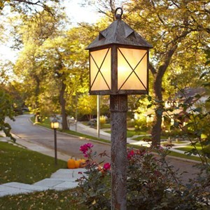 Stonehaven™ Lantern 10 in. Rustic Post Light