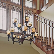 Wentworth™ Twelve Light Large Two Tier Chandelier with 2-1/4 in. shade holders