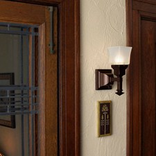 Wentworth™ One Light Straight Arm Sconce with 2-1/4 in. shade holder