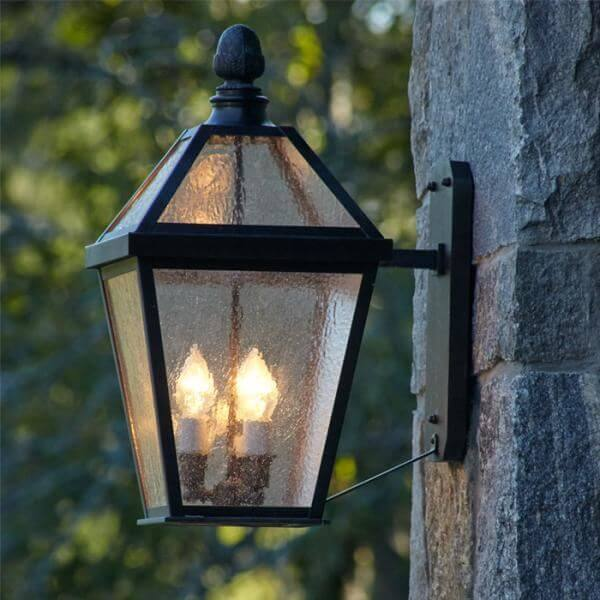 London Lantern with Straight Bracket