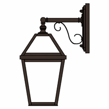 London Lantern 7 in. Wide Scrolled Drop Exterior Wall Light