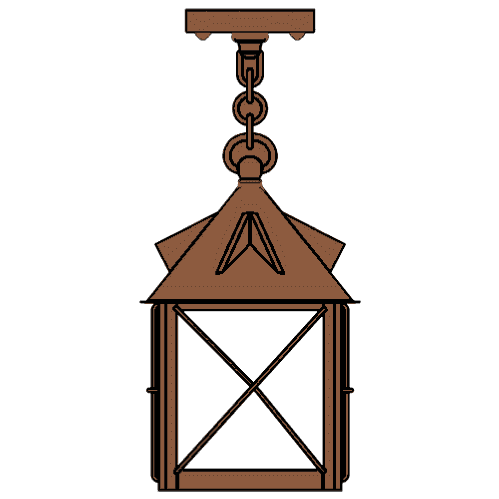 Stonehaven Lantern 16 in. Rustic Pendant Light