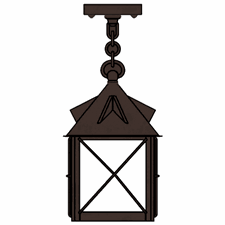Stonehaven Lantern 10 in. Rustic Pendant Light