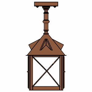 Stonehaven Lantern 14 in. Rustic Pendant Light