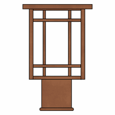 Chicago Lantern 10 in. Wide Exterior Post Light