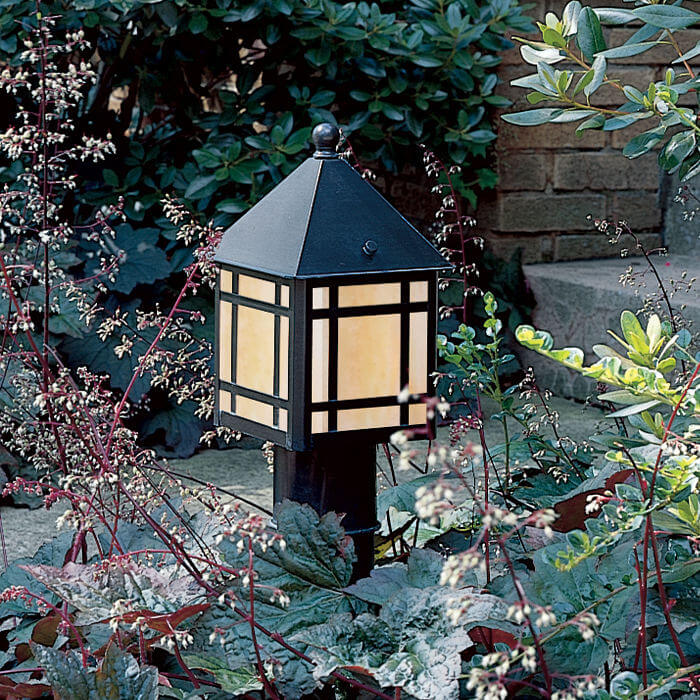 Bungalow™ Lantern 6 in. Wide Exterior Path Light Line Voltage