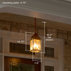 Lancaster™ Lantern 7 in. Candelabra Base Pendant Light