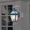 London™ Lantern 8 in. Wide Scrolled Arm Outdoor Hotel Lighting