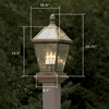 London™ Lantern 10 in. Wide Exterior Hospitality+ Pier Light