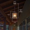 Stonehaven™ Lantern 12 in. Wide Solid Stem Exterior Pendant Light