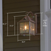Stonehaven™ Lantern 10 in. Outdoor Lantern Sconce