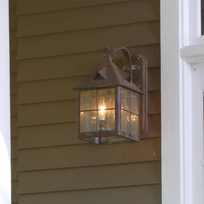 Stonehaven™ Lantern 10 in. Rustic Exterior Wall Light