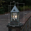 Lancaster™ Lantern 8 in. Entry Pier Light