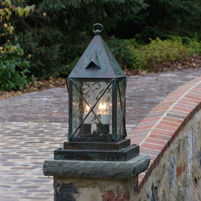 Lancaster™ Lantern 8 in. Wide Exterior Pier Light