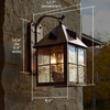 Stonehaven™ Lantern 10 in. Rustic Exterior Garage Light
