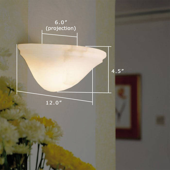 Navarra™ 12 in. Wide Alabaster Wall Sconce