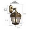 French Country Lantern™ 11 in. Wide Scrolled French Country Lantern