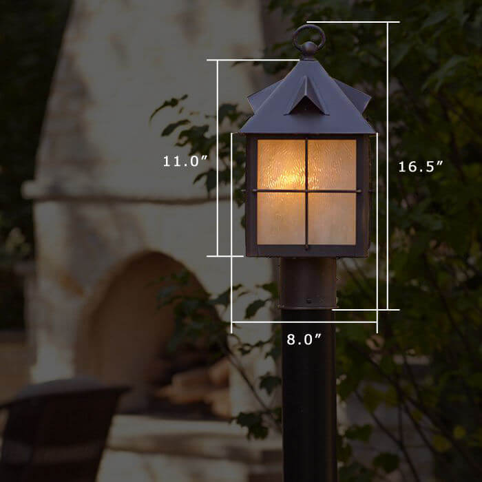Stonehaven™ Lantern 8 in. Rustic Post Light